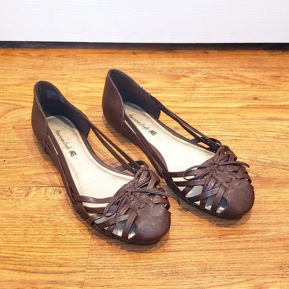 Womens Brown Sandals Size 1 Wide Width